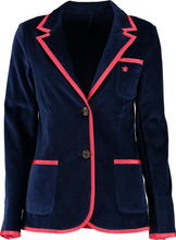 Load image into Gallery viewer, Women's Navy Terry Cloth Toweling Blazer