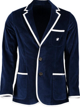 Load image into Gallery viewer, Kids Navy Terry Cloth Toweling Blazer