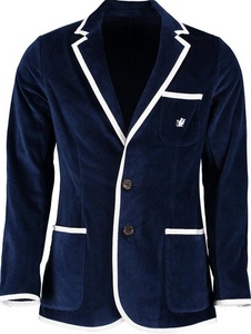 Kids Navy Terry Cloth Toweling Blazer
