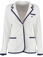 Load image into Gallery viewer, Women's White Terry Cloth Toweling Blazer