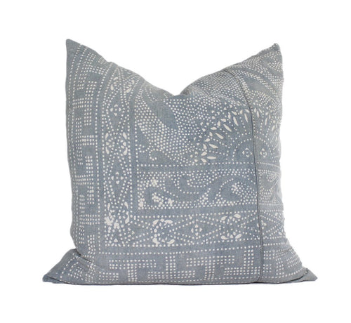 Faded Blue Hmong Pillow