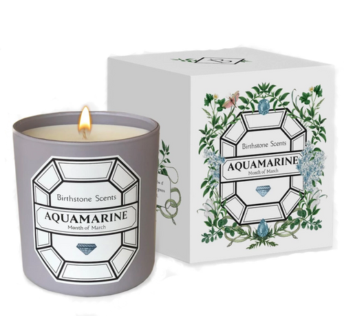 Aquamarine Candle | March