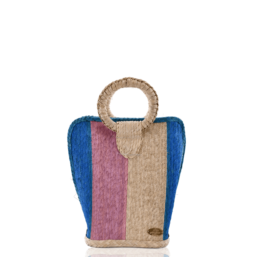 Quina Straw Bucket Bag  Cielito Lindo | Medium
