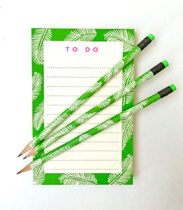 Palm print Notepad & Pencils