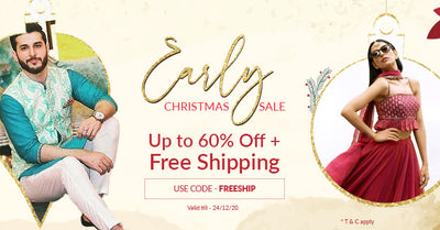 Early Christmas Sale : Up to 60% off + Free Shipping