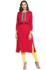 Rayon Tunic in Pink