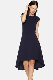 Rayon Dress in Navy