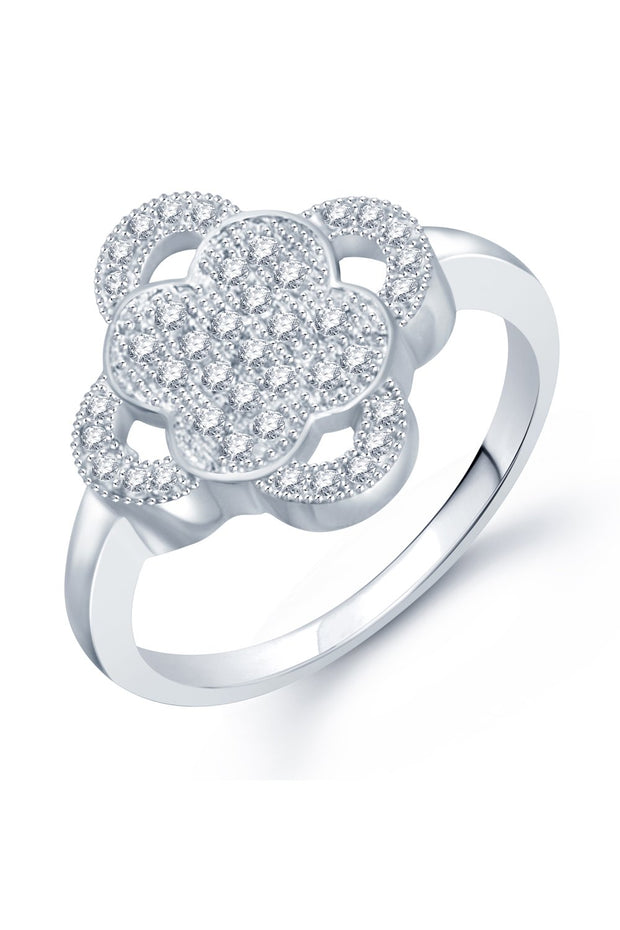 Women's Alloy Ring in White