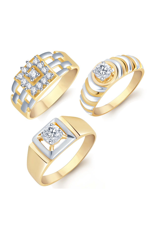 Men's Alloy Combo-Ring in Gold