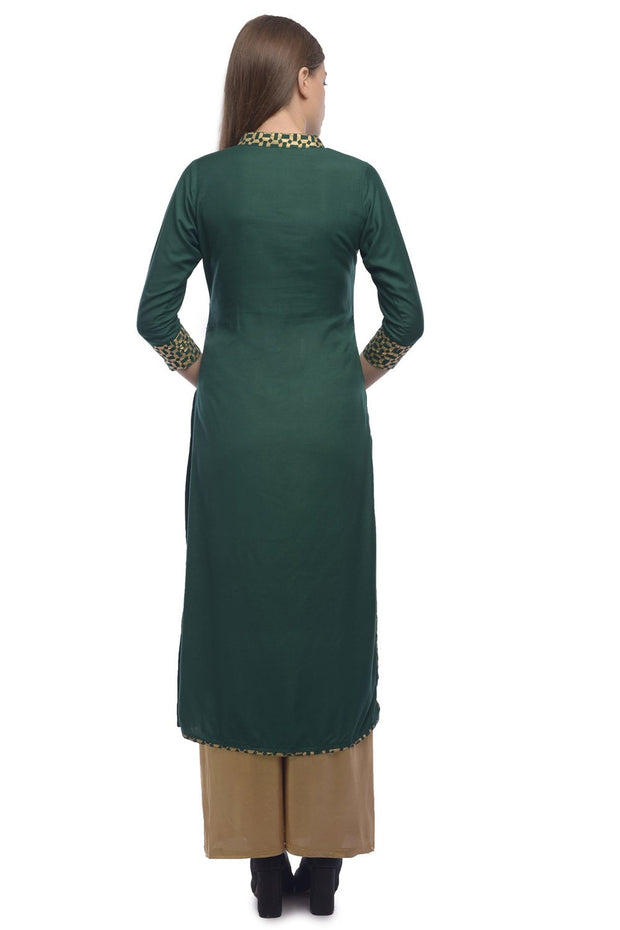 Rayon Tunic in Green