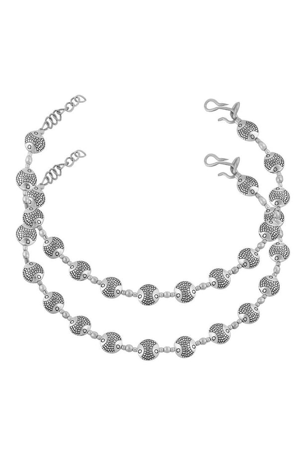 Women's Alloy Anklet in White