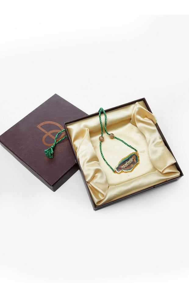 Women's Copper Necklace in Green