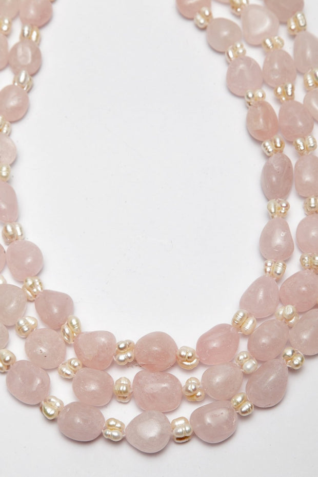 Women's Synthetic Necklace in Pink
