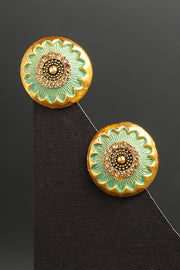 Women's Alloy Studs Earrings in Blue
