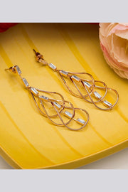 Women's Alloy Large Dangle Earrings in Gold