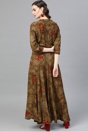 Rayon Dresses in Brown