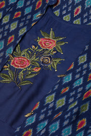 Art Silk Dresses in Navy Blue