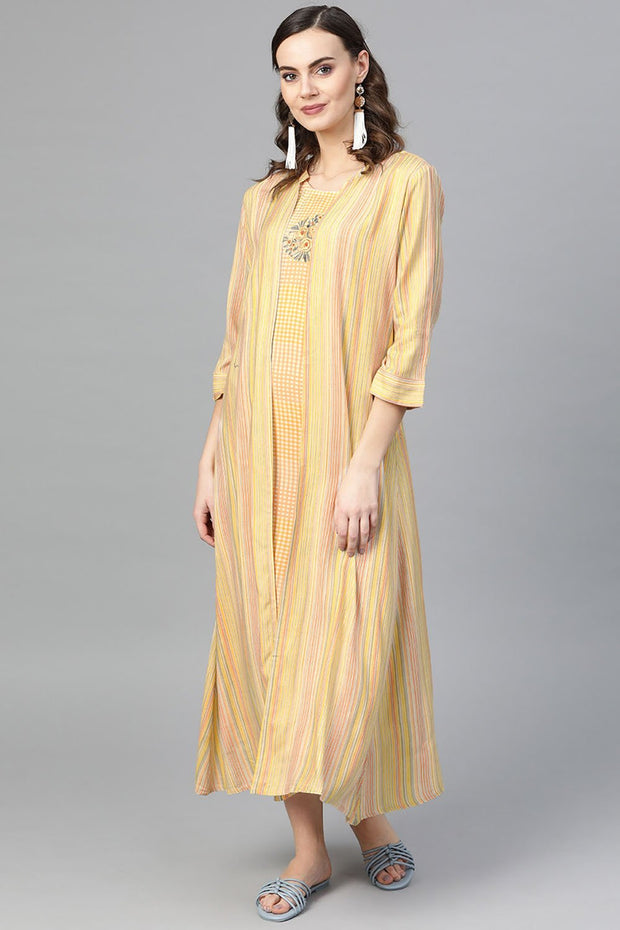 Rayon Dresses in Yellow