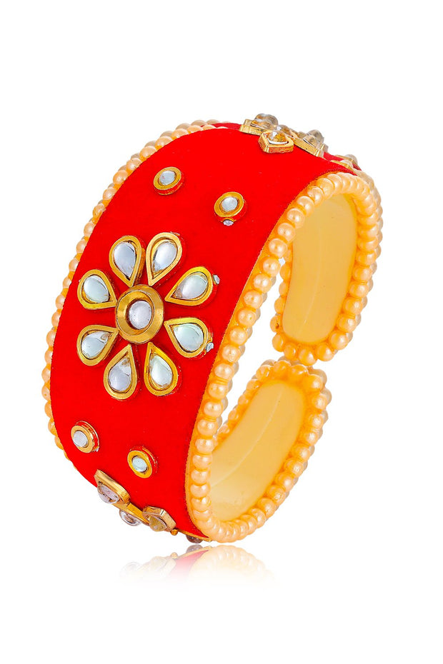 Women's Alloy Kada in Red