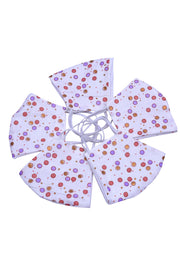 Girl's Cotton Polka Dots Mask in White