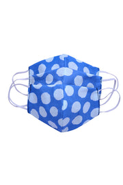 Kid's Cotton Polka Dots Mask in Blue