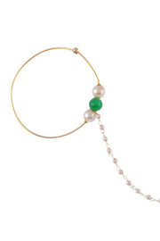 Women's Alloy Nose Ring in Pearl