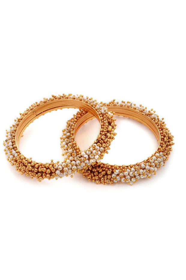 Women's Alloy Bangles in Gold- Set of 2