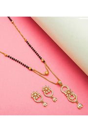 Women's Alloy Mangalsutra Set in Gold and Black