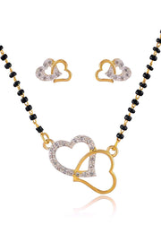 Women's Alloy Mangalsutra Set in Gold