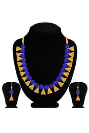 Women's Alloy Necklace Set in Blue