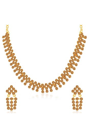 Women's Alloy Necklace Set in Brown