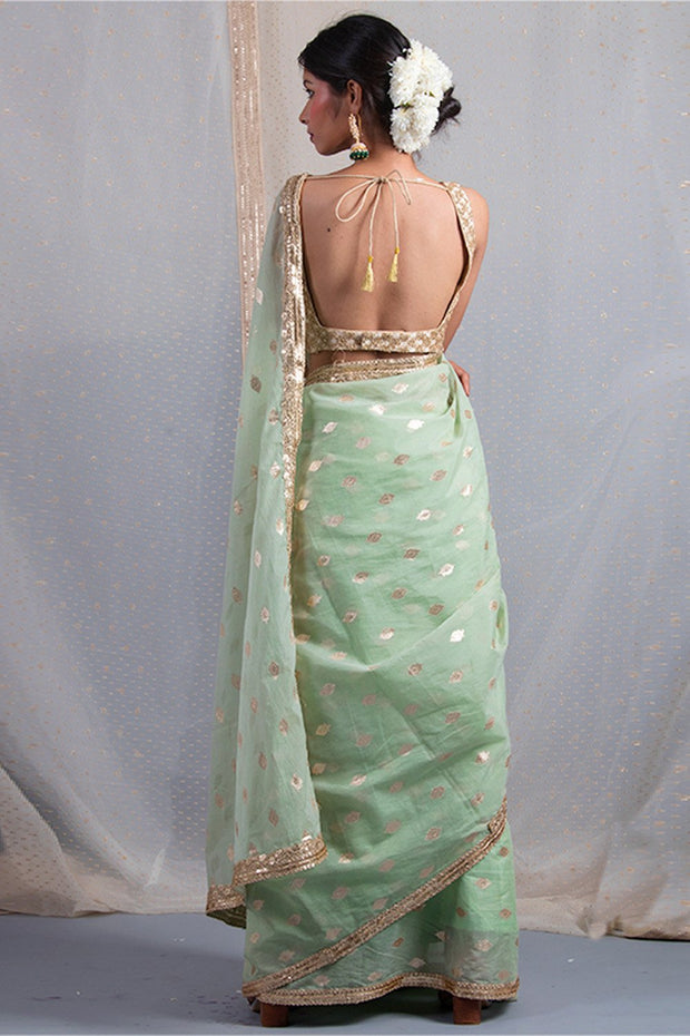 Chanderi Saree in Green