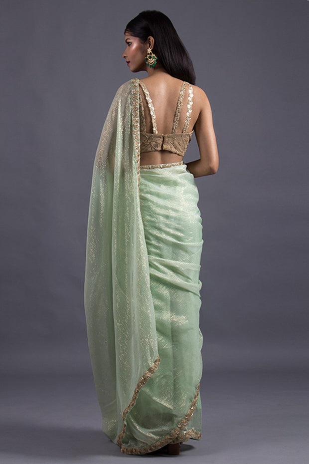 Chiffon Saree in Green