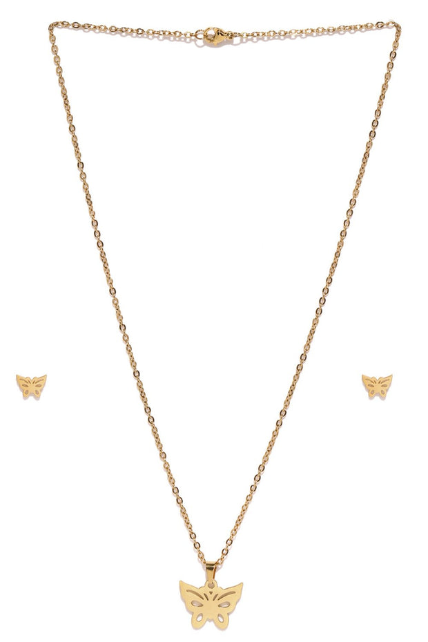 Women's Alloy Pendant Set in Gold