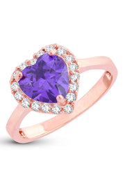 Women's Alloy Ring in Rose