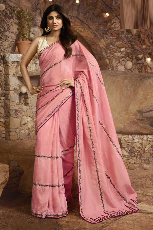 Silk Saree in Pink