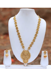 Women's Alloy Necklace and Earrings Set in Gold