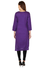 Rayon Kurti in Purple