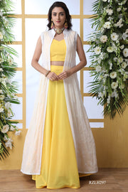 Georgette Designer Lehenga in Yellow
