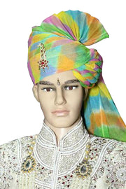 Blended Cotton Turban in Multicolor