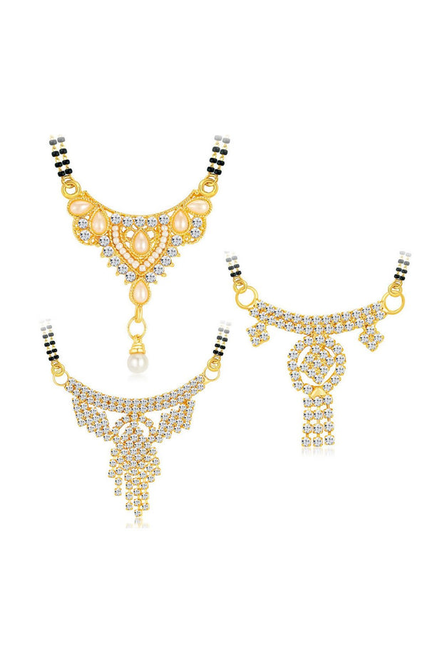 Women's Alloy Mangalsutra Pendant in Gold