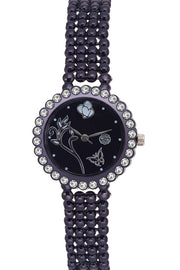Unisex PU Leather Watches in Black