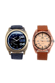 Men's PU Leather Watches in Grey