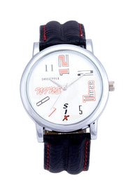 Men's PU Leather Watches in Black