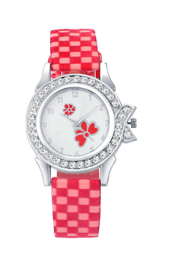 Women's PU Leather Watches in Pink