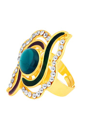 Women's Alloy Ring in Multicolor