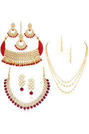 Women's Alloy Combo Necklace Set in Multicolor