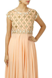 Faux Georgette Suit Set in Peach