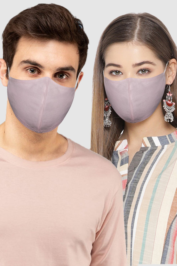 Unisex Cotton Blend Face Mask in Pink