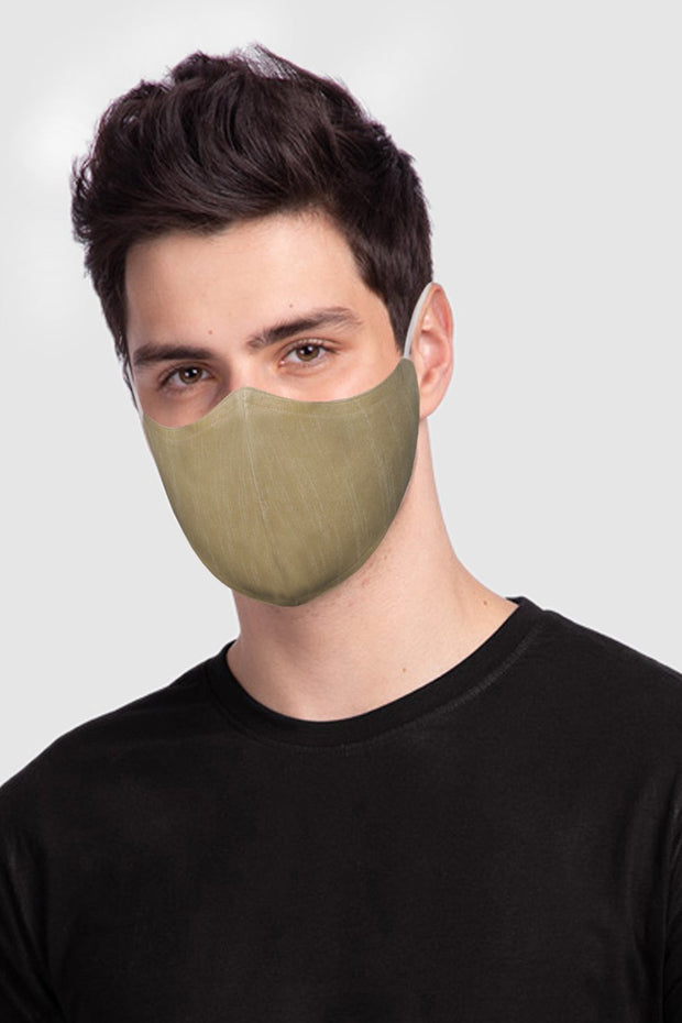 Unisex Cotton Blend Face Mask in Gold